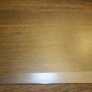 Beskyttelseskappe i klar plast til præsentationsskilt A4 hvid