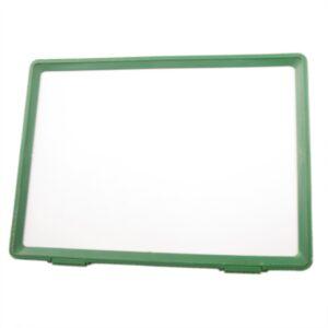 Grøn ramme m/bagbeklædning til præsentationssæt – A4