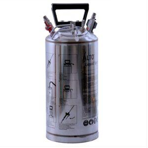 AZO Vædskebeholder m/ bærehåndtag – 10 l. rustfri