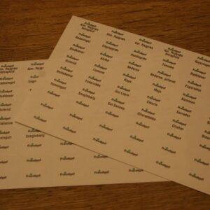 Etiketter til præparatglas